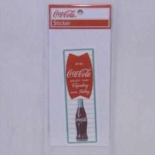 ☆COKE☆ (CC-BA40:フィッシュ+ボトル)コカコーラ ステッカー  輸入雑貨/海外雑貨/直輸入/アメリカ雑貨