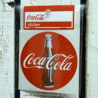 ☆COKE☆  (CC-BA31:ディスクサイン)コカコーラ ステッカー  輸入雑貨/海外雑貨/直輸入/アメリカ雑貨