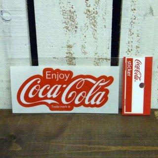 ☆COKE☆   (CC-BA30:80年代ロゴ)コカコーラ ステッカー  輸入雑貨/海外雑貨/直輸入/アメリカ雑貨