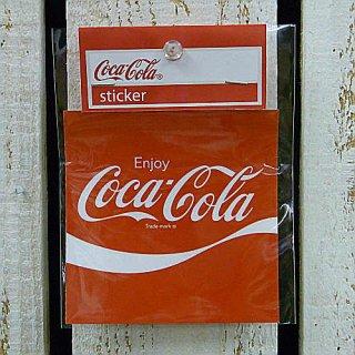 ☆COKE☆   (CC-BA16:スクエア)コカコーラ ステッカー  輸入雑貨/海外雑貨/直輸入/アメリカ雑貨