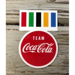 Team Coca-Cola ステッカー (TC-S3) /2020 olympic コカコーラ ステッカー  輸入雑貨/海外雑貨/直輸入/アメリカ雑貨