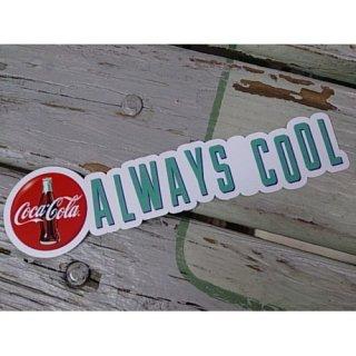 (CC-BA56:コカ・コーラ ALWAYS COOL)コカコーラ ステッカー  輸入雑貨/海外雑貨/直輸入/アメリカ雑貨