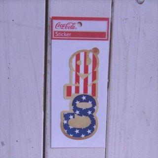 星条旗 (CC-BA49:coke)コカコーラ ステッカー  輸入雑貨/海外雑貨/直輸入/アメリカ雑貨