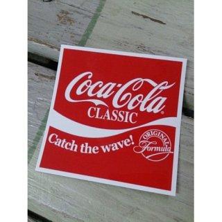 (CC-BA63:コカ・コーラ CATCH THE WAVE!スクエア)コカコーラ ステッカー  輸入雑貨/海外雑貨/直輸入/アメリカ雑貨