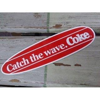 (CC-BA64:コカ・コーラ CATCH THE WAVE!BOARD)コカコーラ ステッカー  輸入雑貨/海外雑貨/直輸入/アメリカ雑貨