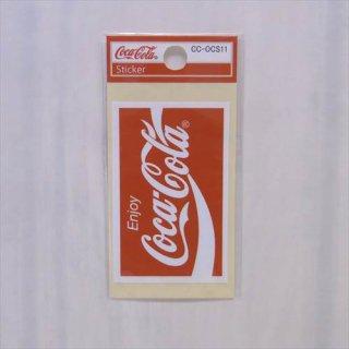 COKE☆ミニステッカー(CC-OCS11:ロゴリボン スクエア)コカコーラ ステッカー  輸入雑貨/海外雑貨/直輸入/アメリカ雑貨