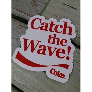 ステッカー☆COKE☆ (CC-BA65:コカ・コーラ CATCH THE WAVE!ダイカット)コカコーラ ステッカー  輸入雑貨/海外雑貨/直輸入/アメリカ雑貨