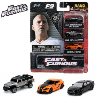 Nano Hollywood Rides FAST & FURIOUS 3-PACK FF9  ワイルドスピード ミニカー