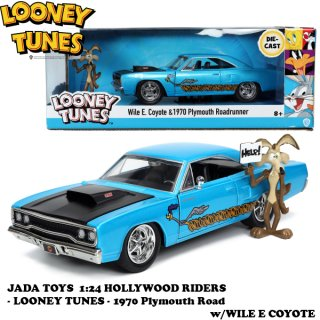 1:24 LOONEY TUNES 1970 Plymouth Road w/WILE E COYOTE  ルーニーテューンズ ミニカー