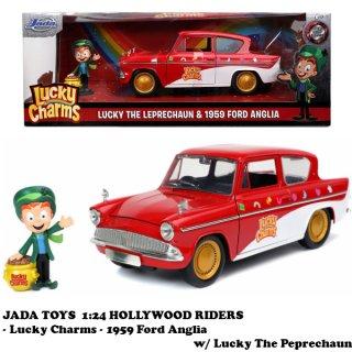1:24 LUCKY CHARMS 1959 Ford Anglia w/ Lucky The Peprechaun  ラッキーチャーム ミニカー
