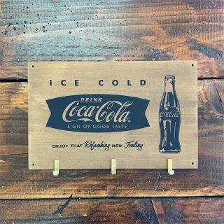 コカコーラ フックボード Coke Wooden Hook Board / ICE COLD