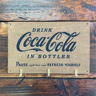 コカコーラ フックボード Coke Wooden Hook Board /  IN BOTTLES