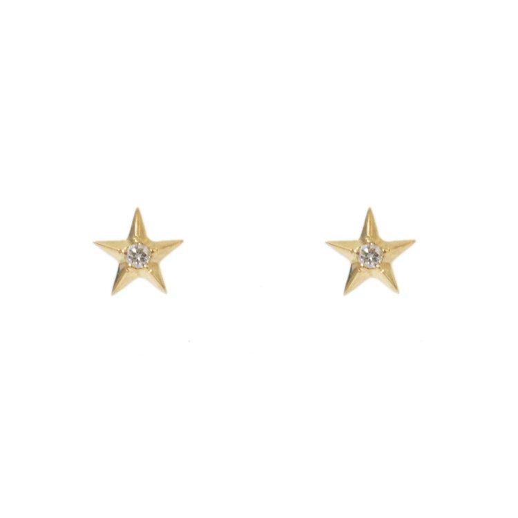 Licht by RiLish<br>K18 DIA Star Pierce ダイヤスターピアス