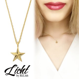 Licht by RiLish<br>K18 Star Necklace スターネックレス(M)