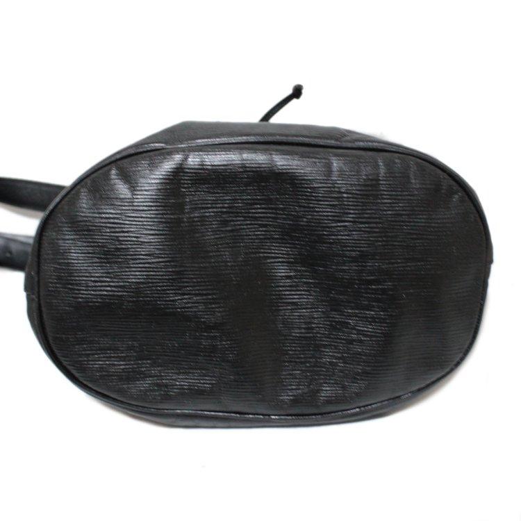 FENDI フェンディ ヴィンテージ<br>ロゴ型押し巾着レザーショルダーバッグ