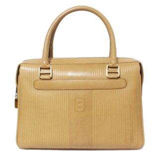 BALLY バリー ヴィンテージ<br>レザーハンドバッグ キャメル