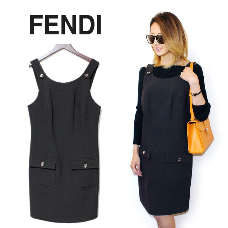 FENDI フェンディ ヴィンテージ<br>ジャンパースカート
