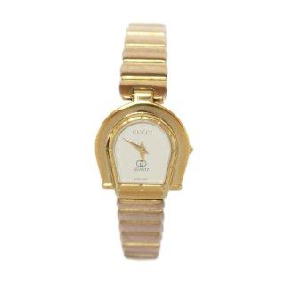 GUCCI グッチ ヴィンテージ<br>ホースシューゴールドQZ腕時計