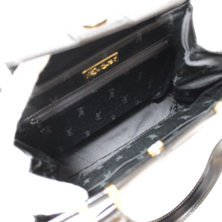 YSL イヴサンローラン ヴィンテージ<br>カーフレザーハンドバッグ