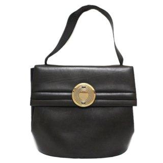 BALLY バリー ヴィンテージ<br>サークル金具レザーハンドバッグ