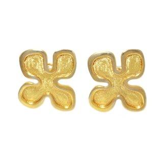 CELINE セリーヌ ヴィンテージ<br>ゴールド変形デザインイヤリング