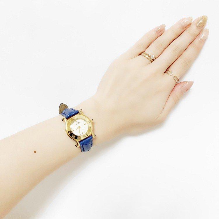 GUCCI グッチ ヴィンテージ<br>レザーベルトQZ腕時計 6500L