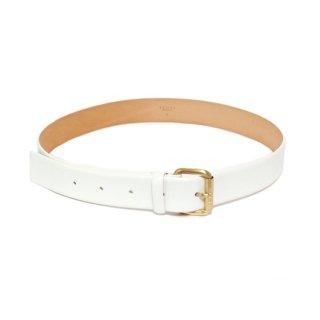 CELINE セリーヌ ヴィンテージ<br>レザーベルト ホワイト