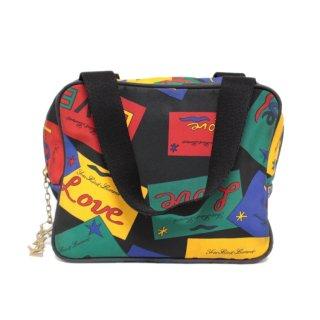 YSL イヴサンローラン ヴィンテージ<br>LOVEマルチカラーハンドバッグ
