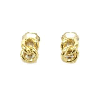 Dior ディオール ヴィンテージ<br>2連チェーンモチーフイヤリング