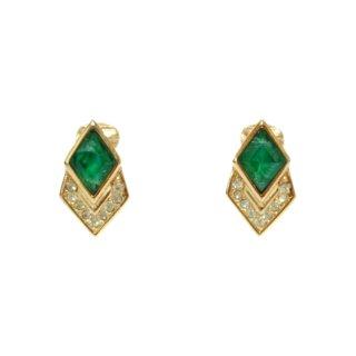 Dior ディオール ヴィンテージ<br>カラーストーンイヤリング グリーン