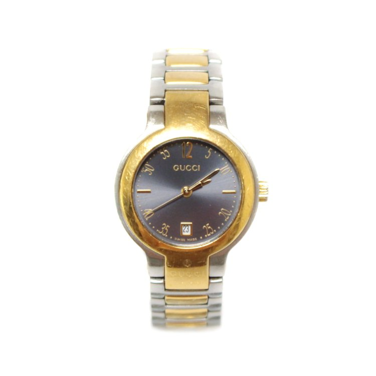 GUCCI グッチ ヴィンテージ<br>コンビカラーQZ腕時計 8900L