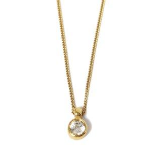 Dior ディオール ヴィンテージ<br>一粒ビジューネックレス