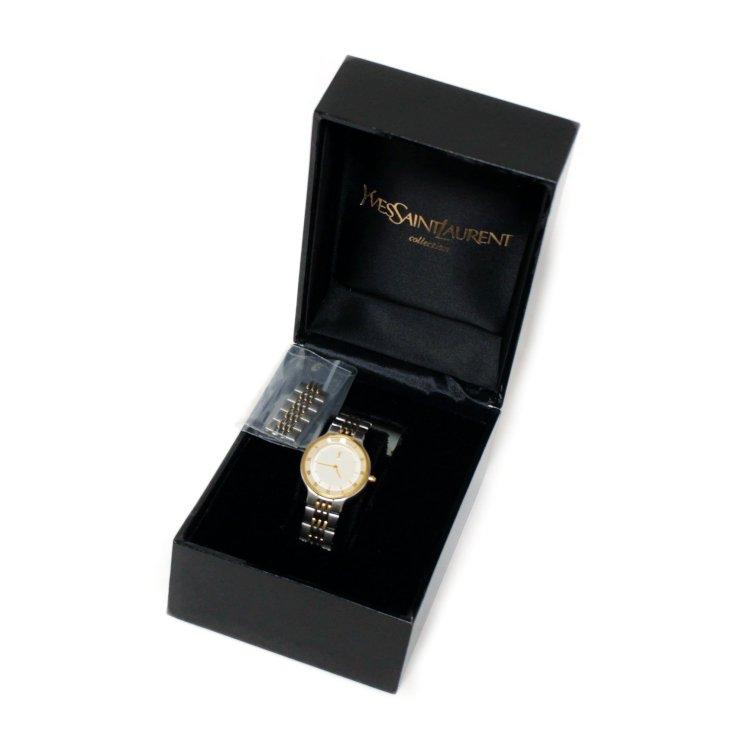 YSL イヴサンローラン ヴィンテージ<br>コンビカラーQZ腕時計