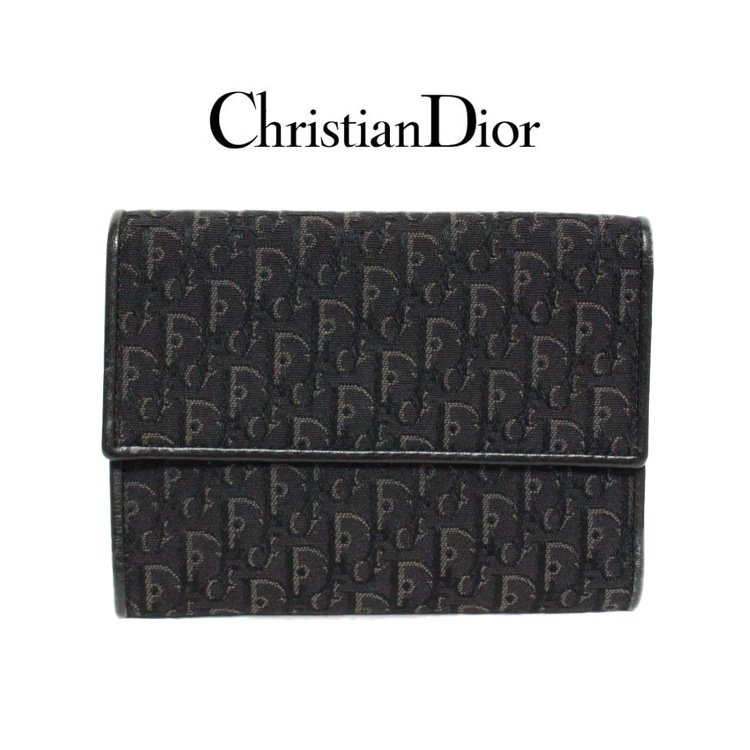 Dior ディオール ヴィンテージ<br>トロッター二つ折り財布
