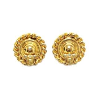 CELINE セリーヌ ヴィンテージ<br>ブラゾンモチーフイヤリング