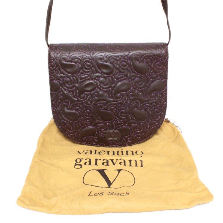 VALENTINO ヴァレンティノ ヴィンテージ<br>ペイズリーステッチショルダーバッグ