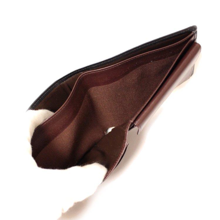 YSL イヴサンローラン ヴィンテージ<br>ロゴレザー二つ折り財布