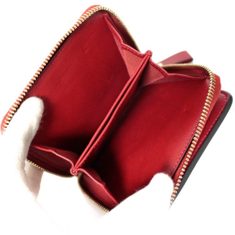VALENTINO GARAVANI ヴァレンティノ ガラヴァーニ<br>ロックスタッズ コンパクトラウンドジップ財布 レッド