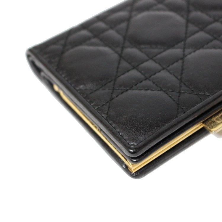 Dior ディオール ヴィンテージ<br>カナージュがま口二つ折り財布