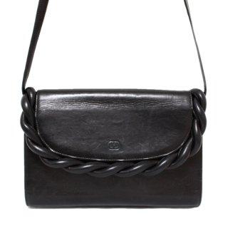 VALENTINO ヴァレンティノ ヴィンテージ<br>2WAYツイストレザークラッチ/ショルダーバッグ