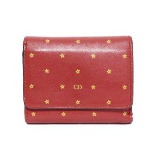 Dior ディオール ヴィンテージ<br>スターモチーフレザー二つ折り財布