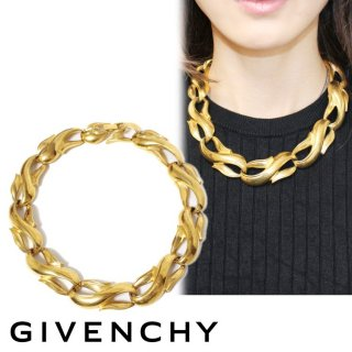 GIVENCHY ジバンシー ヴィンテージ<br>ゴールドモチーフネックレス