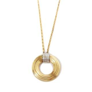 Dior ディオール ヴィンテージ<br>コンビカラーサークルネックレス