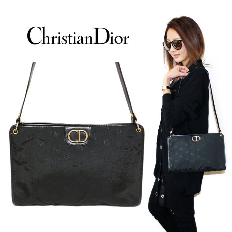 <img class='new_mark_img1' src='https://img.shop-pro.jp/img/new/icons14.gif' style='border:none;display:inline;margin:0px;padding:0px;width:auto;' />Dior ディオール ヴィンテージ<br>キャンバスロゴ総柄ショルダーバッグ