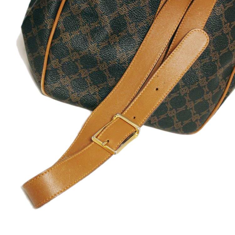 BALLY バリー ヴィンテージ<br>ロゴバイカラー巾着ワンショルダーバッグ
