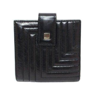 BALLY バリー ヴィンテージ<br>デザインステッチレザー二つ折り財布