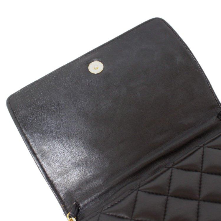 GIVENCHY ジバンシー ヴィンテージ<br>キルティングレザーチェーンショルダーバッグ