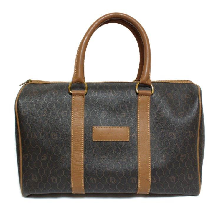 Dior ディオール ヴィンテージ<br>ハニカム柄ボストンバッグ