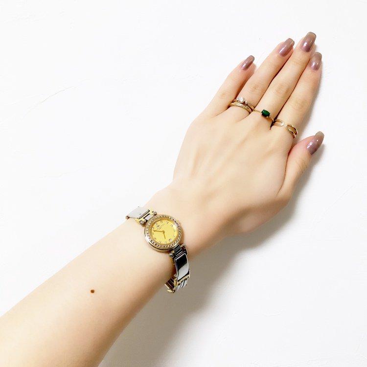 BALENCIAGA バレンシアガ ヴィンテージ<br>コンビカラー×ラインストーンQZ腕時計
