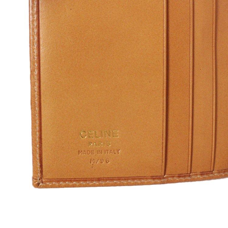 CELINE セリーヌ ヴィンテージ<br>マカダム柄二つ折り財布
